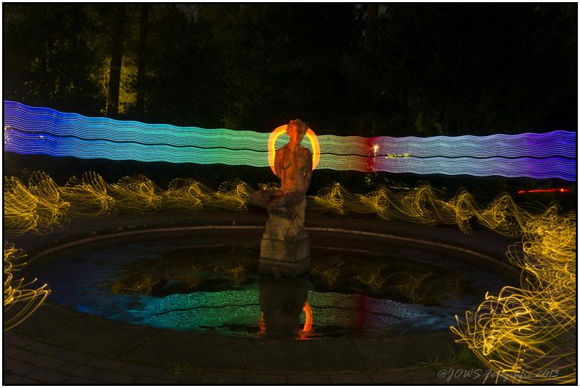 Lightpainting im Stadtpark