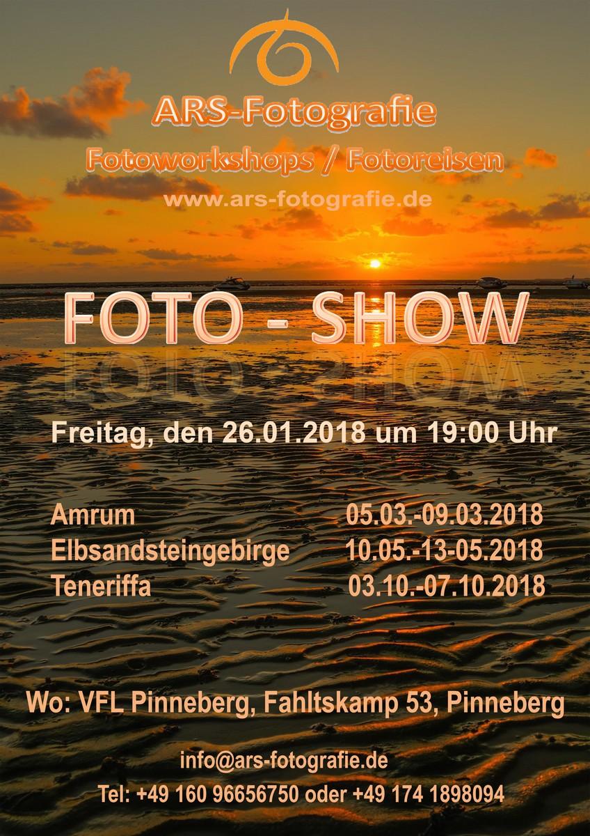 Ankündigung aktuelle Fotoshows und Ausstellung